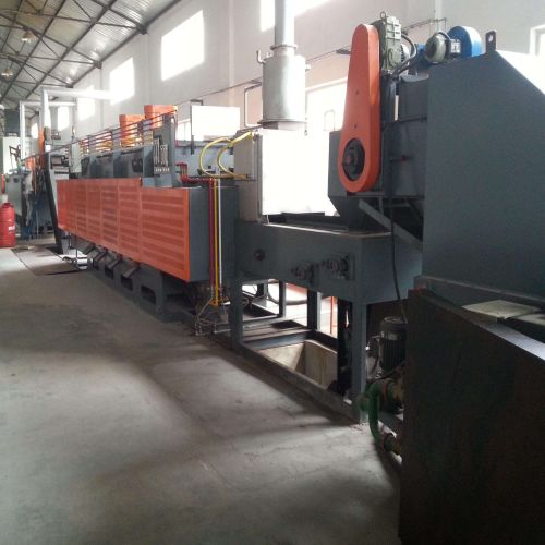 Continuous atmosphere controllable mesh belt conveyor heat treatment Furnace