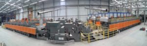 Continuous atmosphere controllable mesh belt conveyor heat treatment furnace