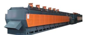 Electric heating mesh belt conveyor normalizing furnace