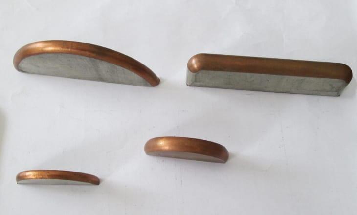 CNC busbar angle chamfer milling machine Produced Busbar Samples