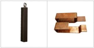 Copper bar U shape bending mold tool