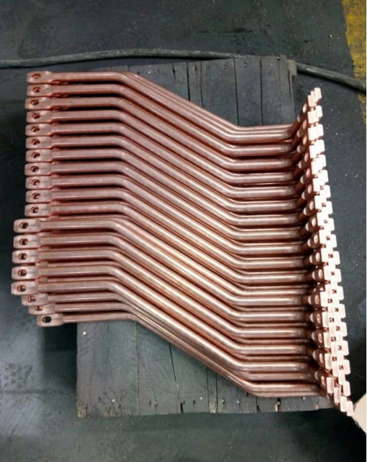 Copper rod shape forming machine Processed Busbar Samples-2