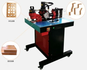 Simple busbar shearing punching bending machine Structure and Components