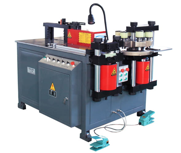 Three station multi functions bus bar making machine