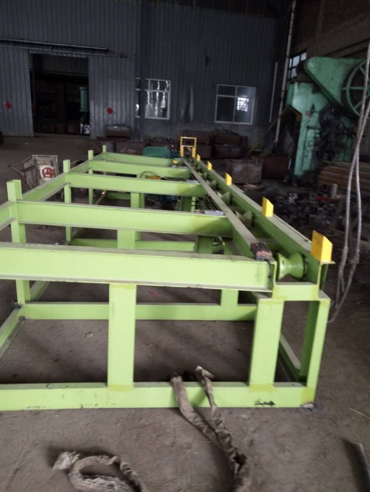 Round steel rod bar automatic cutting machine installation-4
