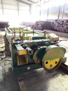 Round steel rod bar automatic cutting machine trial production-2